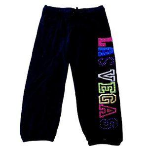 3/4 Black Sweat Pants Studs Small (Fits 12)